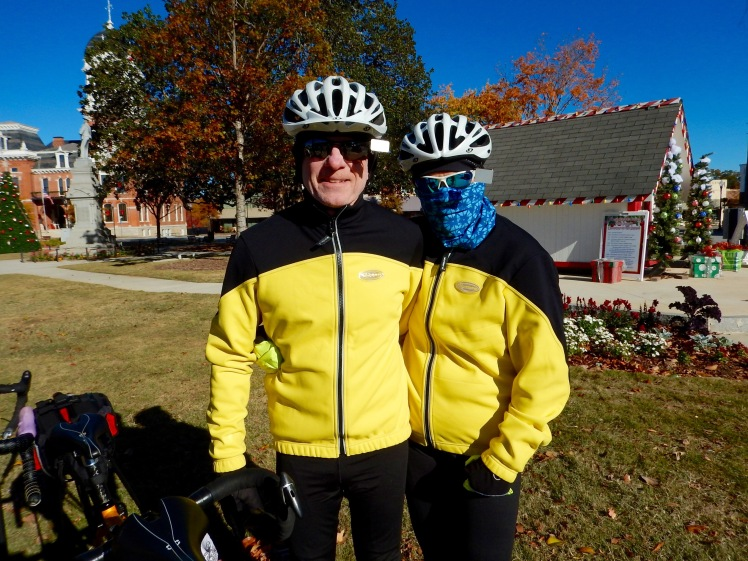 Floridians Al and Heidi Parker pulled out all of their cold weather gear!